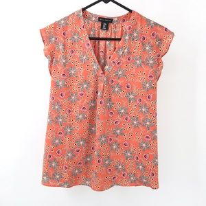 Willi Smith Floral Short-Sleeve Blouse